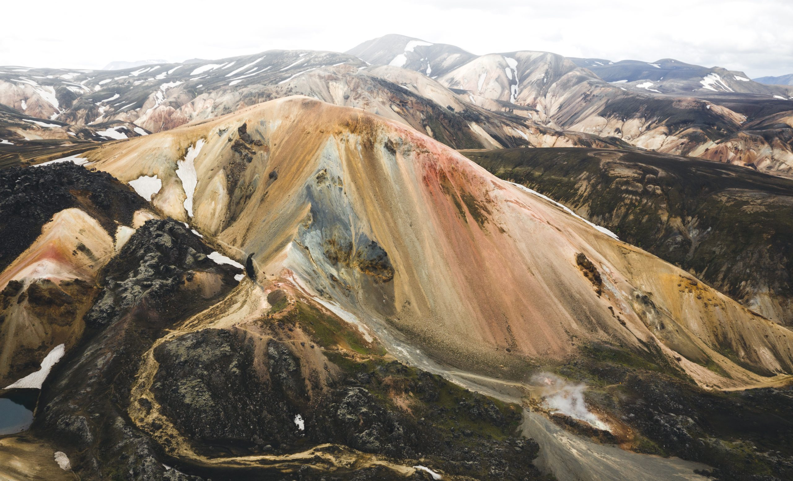 Colourful mountains in the Landmannalaugar Region in Iceland.