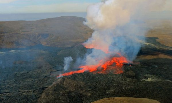 Helicopter Tour Over The Erupting Volcano on Reykjanes Peninsula