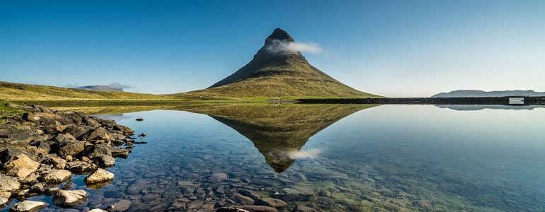Kirkjufell mountain on the Snæefellsnes peninsula in the west of Iceland.